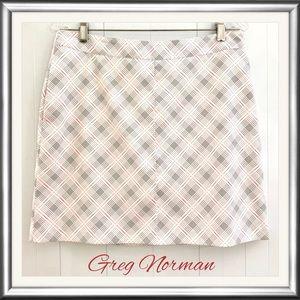 Greg Norman plaid golf skort